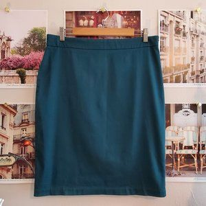 Max Studio Hunter Green Pencil Skirt